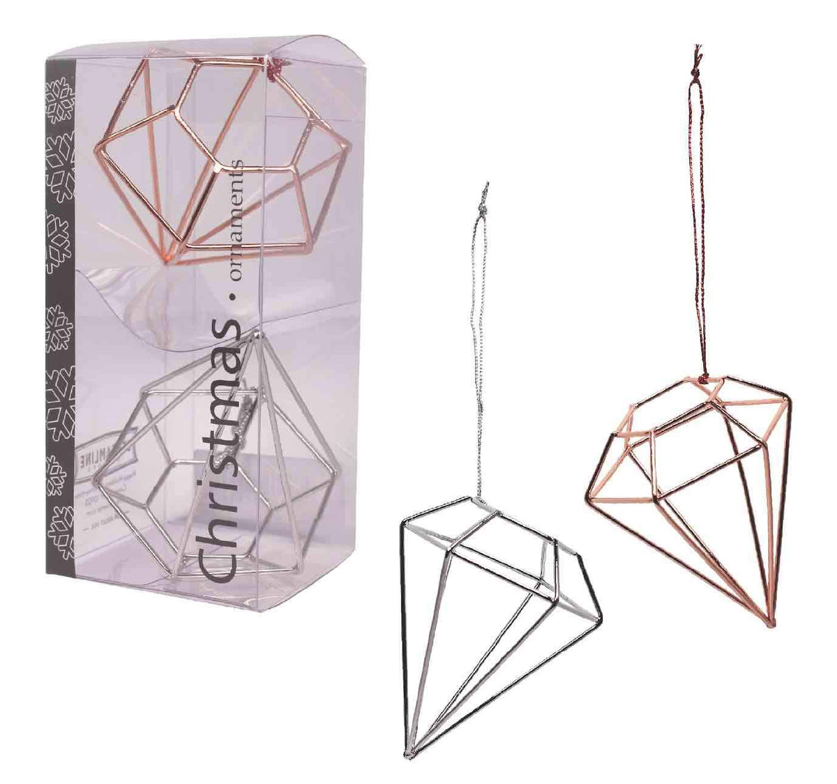 Geo Diamond Ornament Set