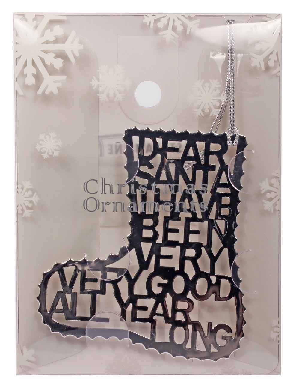 Dear Santa Stocking Ornament