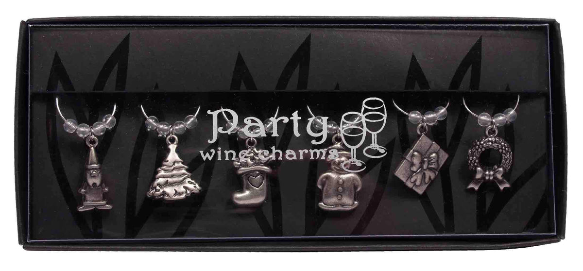 Christmas Wine Charm Set