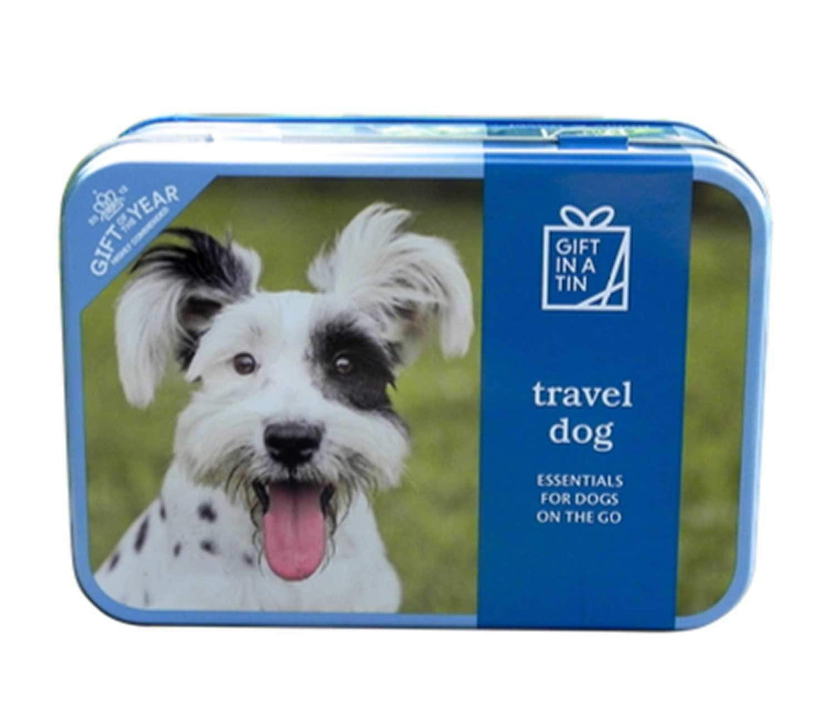 Traveling Dog in a Tin