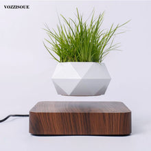 Load image into Gallery viewer, Hot Sale Levitating Air Bonsai Pot Rotation Planters Magnetic Levitation Suspension Flower Floating Pot Potted Plant Desk Decor - AirHalo™
