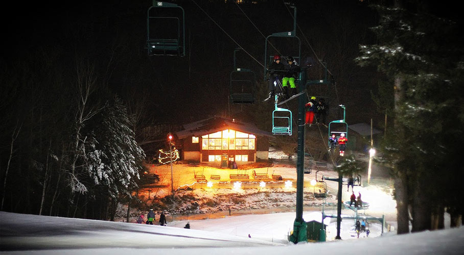 A four-seasons parks, Chester Bowl hosts skiing and snowboarding in the winter.