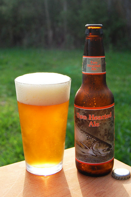 Pin glass of bells two hearted ale