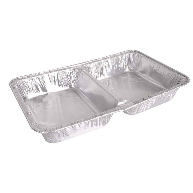 Lemon And Lime Foil Tray Double Compartment