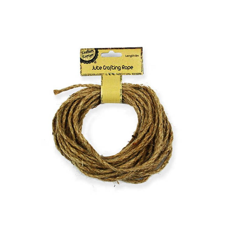 Jute Crafting Rope, 8m
