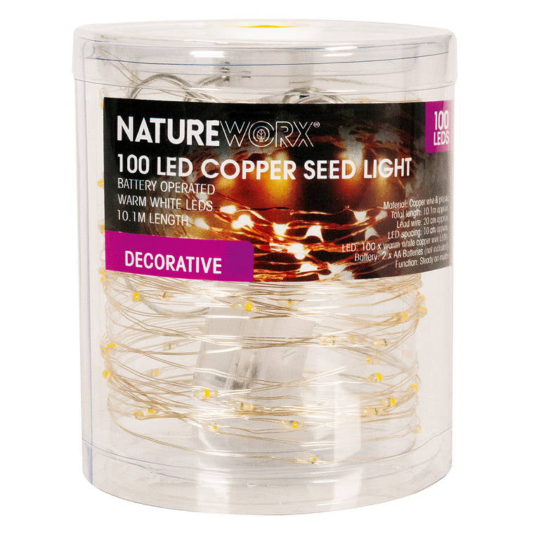 String Light Battery Operated (Warm White), 100XLED