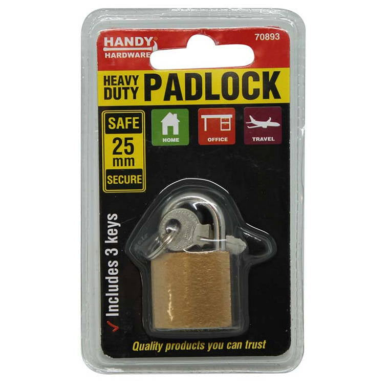 Padlock, Heavy Duty, 25mm