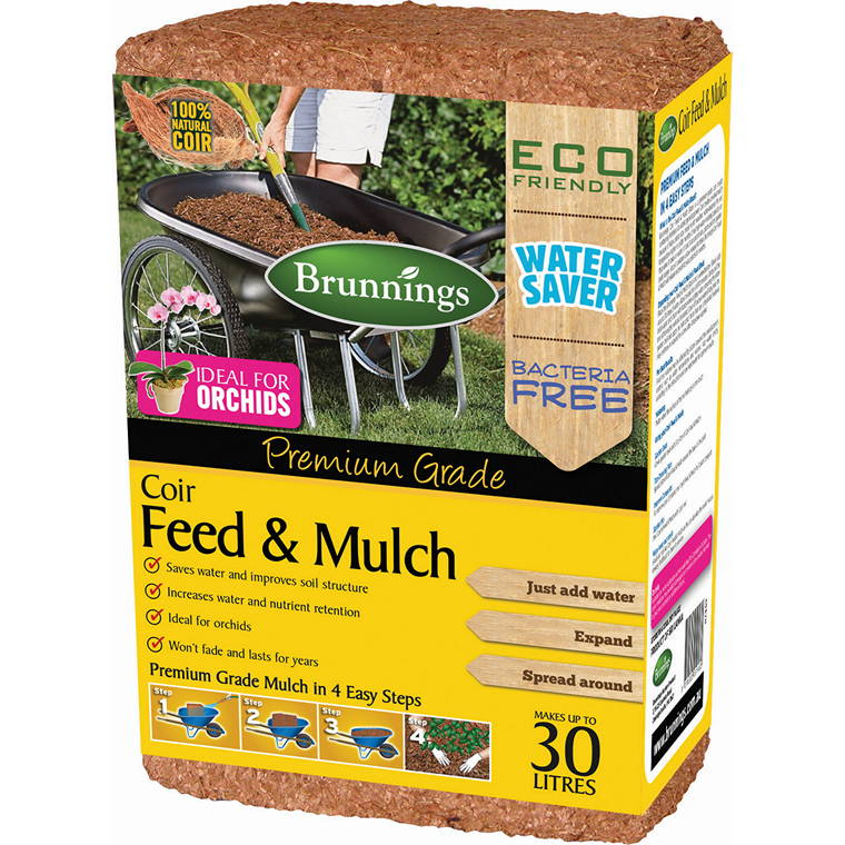 Feed N Mulch Coir Block, 30L