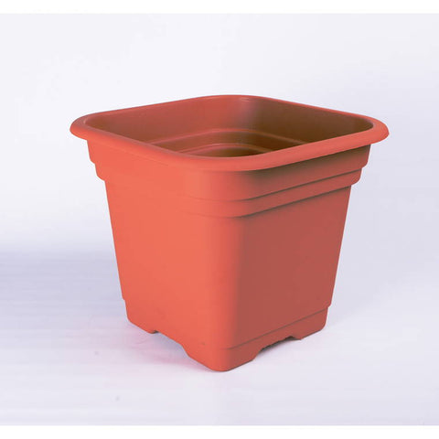 Square Planter 46cm 2 Assorted Colours Green and Terracotta
