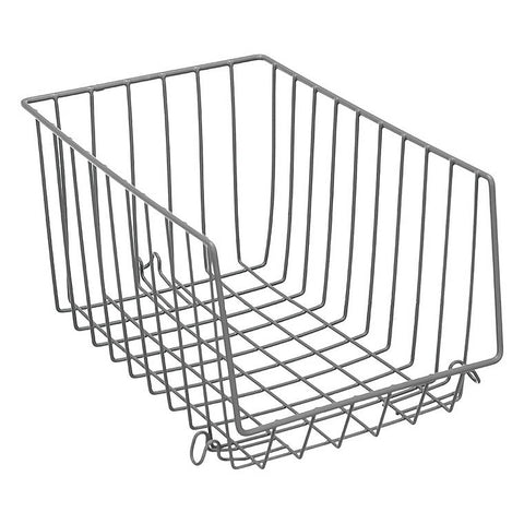 Wire Stackable Storage Basket, 33X21X17cm, 2 Assorted
