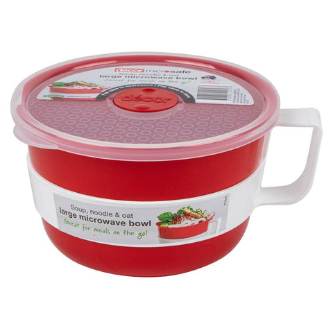 Msafe Soup Noodle and Oat Bowl Red/Clear/White