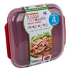 Microsafe Bacon Cooker Red/Clear