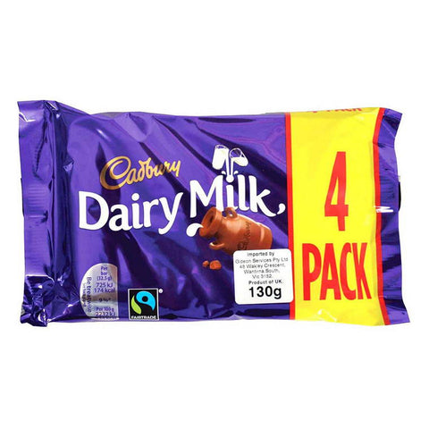 Cadbury Dairy Milk 4Pack 130G