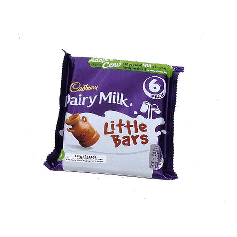 Cadbury Dairy Milk Little Bars 6X18Gm