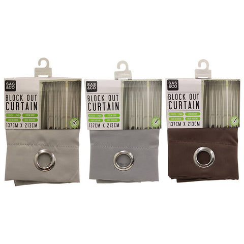 Home Master Curtain Block Out, Natural, 4 Assorted