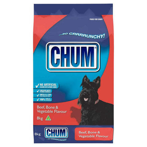 CHUM Dry 8kg Beef, Bone and Vegetables Flavour