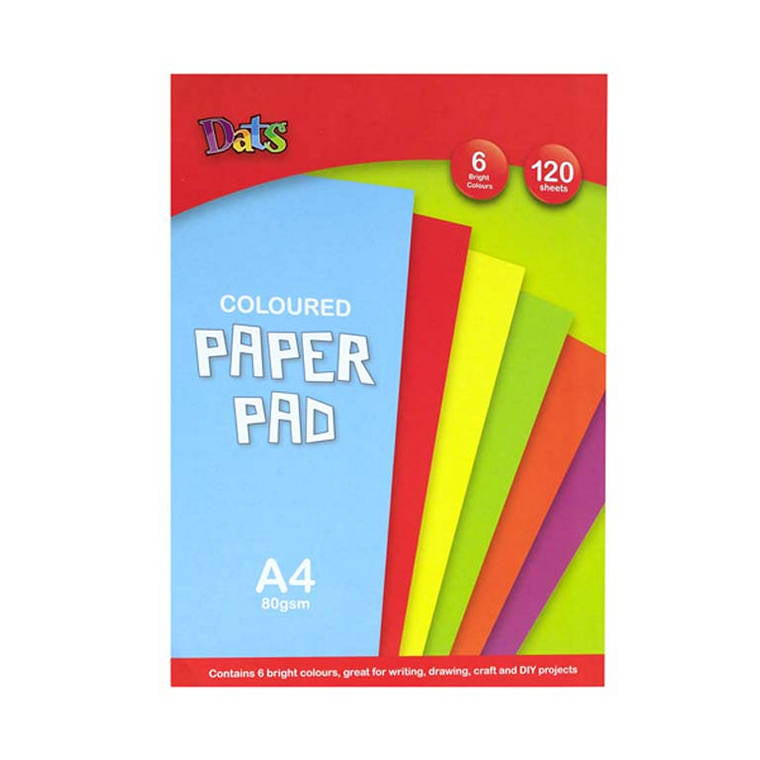 Pad, Paper, Colour, 6 Bright Colours, A4, 120pcs, 21x29.7cm