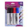 Marker, Permanent, Jumbo, Mixed, 4pk