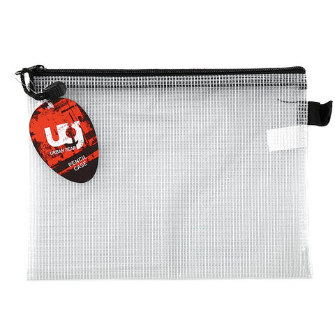 Pencil Case Mesh Clear 26x18cm