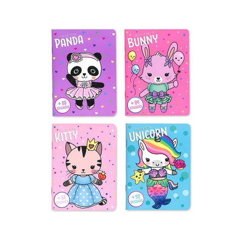 Dress Me Up Book Kitty, Bunny, Panda, Unicorn, 24pgs