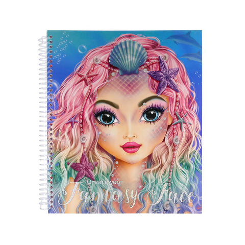 Fantasy Face Colouring and Sticker Book