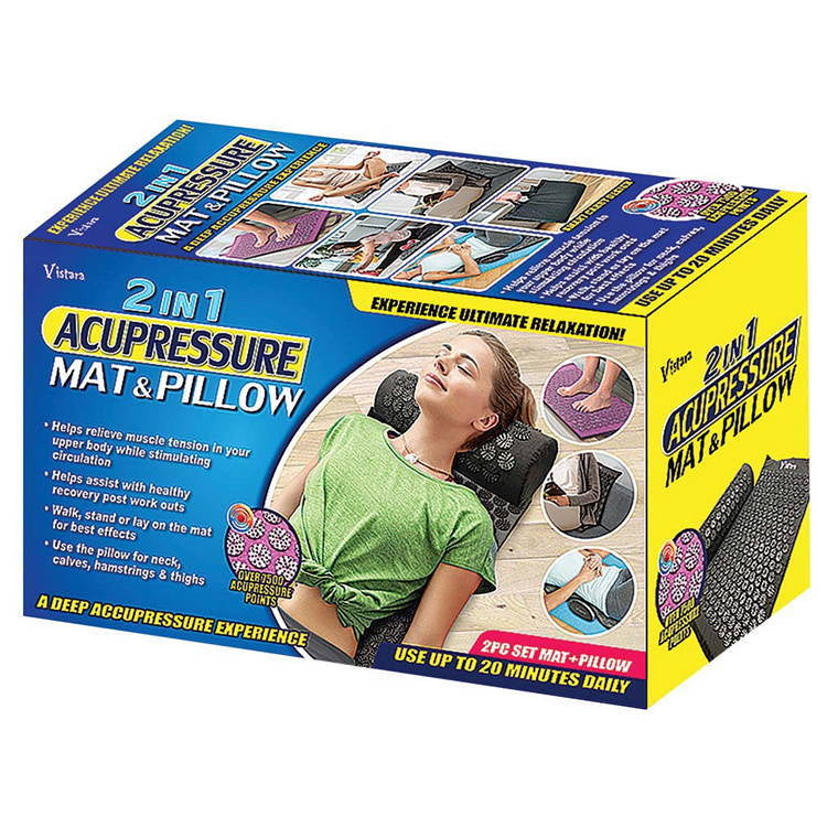 2 In 1 Acupressure Mat and Pillow