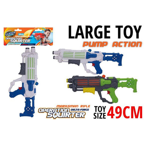 Water Gun , Pump Action, 49cm, 2 Assorted
