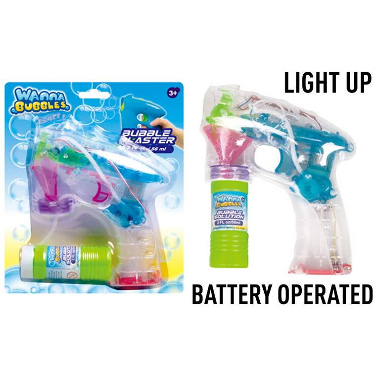 Bubble Gun with Solution, Battery Operated, 56ml