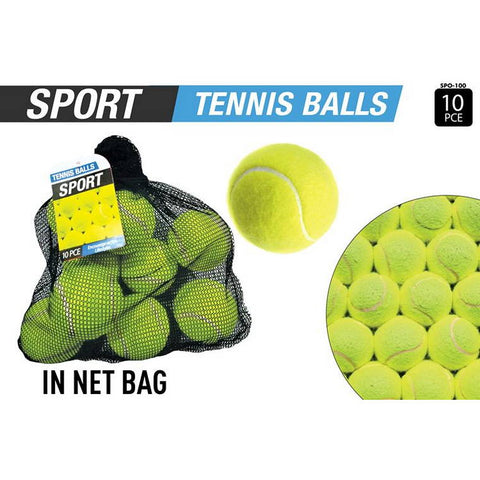 Tennis Balls in Net Bag, 10pcs