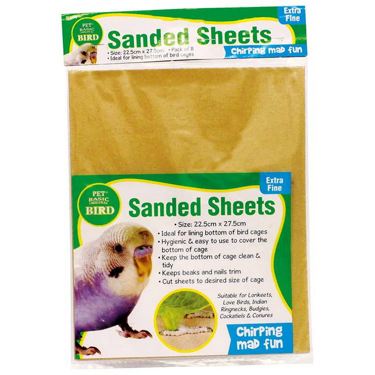 Bird Sand Sheets, 8pcs