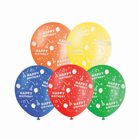 Balloon 10Pk Printed Bday
