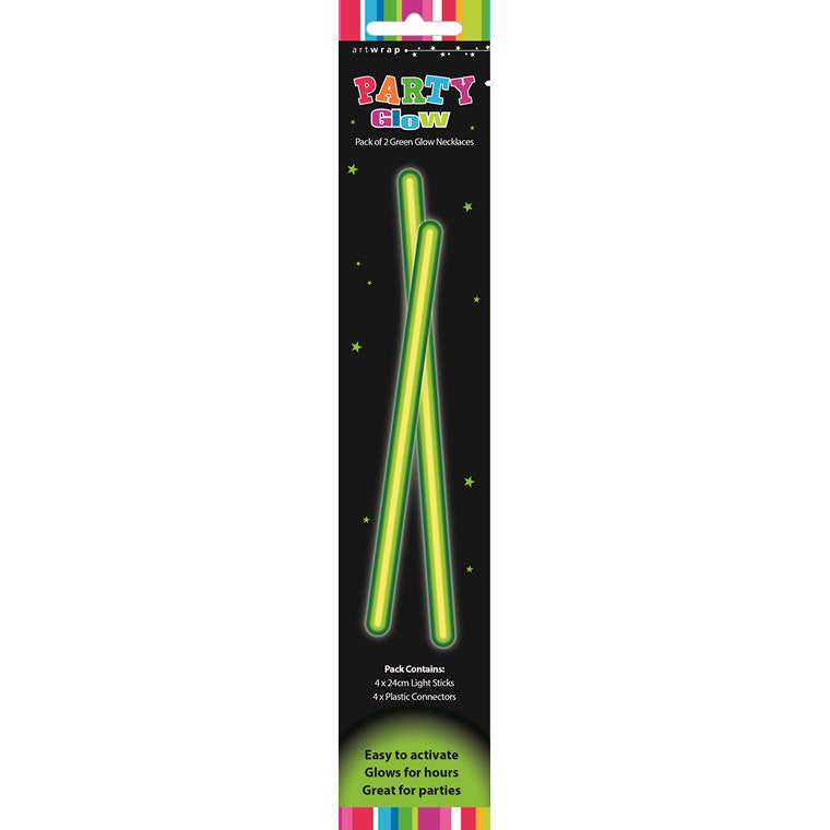 Glow Necklace Green 2Pk