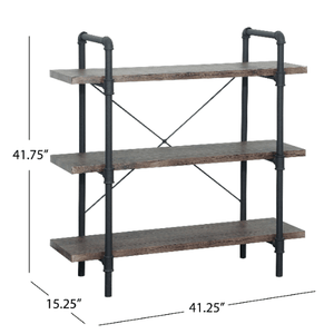3 - 4 Tiers Industrial Pipe Design Bookcase - Plugsusa