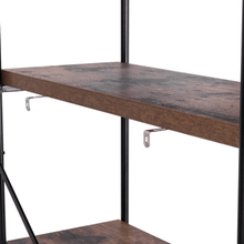 Load image into Gallery viewer, 4 Tier Bookcase Industrial Rack Storage Shelf - Plugsusa