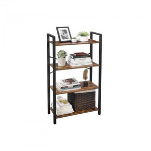 4 Tier Industrial Ladder Shelf Bookcase - Plugsusa