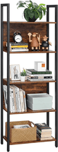 Load image into Gallery viewer, 5-Tier Bookshelf, Storage Rack Shelf - Plugsusa