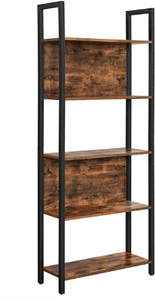 5-Tier Bookshelf, Storage Rack Shelf - Plugsusa