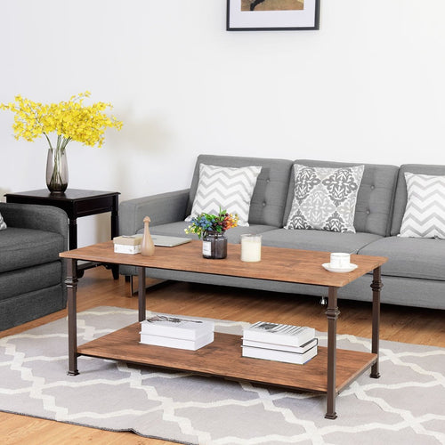 Anmas Modernity Coffee Table With Storage Shelf - Plugsusa