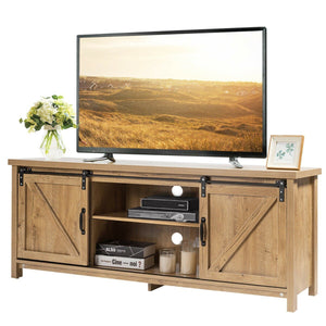 "Anmas Modernity TV Stand Barn Door Sliding 60"" - Plugsus Home Furniture"