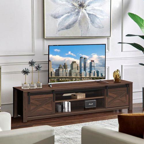 Anmas Modernity TV Stand Barn Door Sliding 65