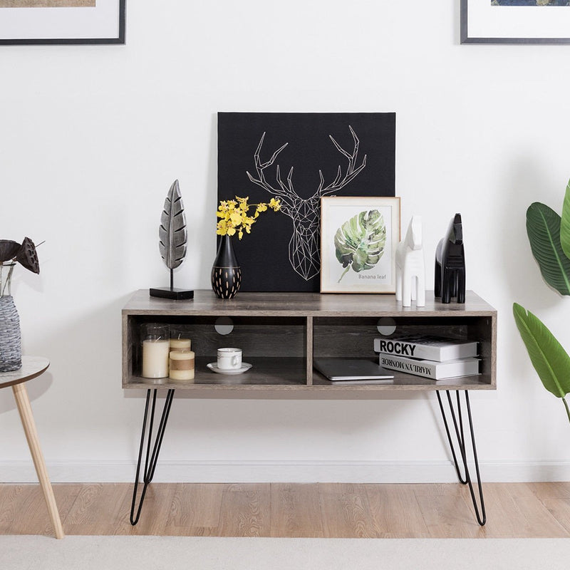 "Anmas Tv Stand With Metal Hairpin Legs 42""."