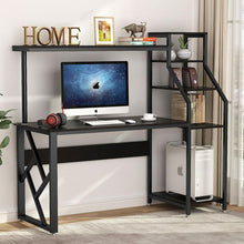 Load image into Gallery viewer, Computer Desk with 4-Tier Storage Shelves - Plugsus Home Furniture