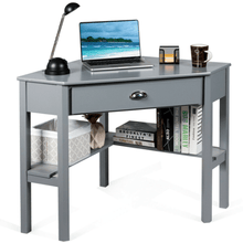 Load image into Gallery viewer, Corner Wooden Laptop Computer Desk - Plugsusa