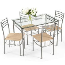 Load image into Gallery viewer, Dining Set Glass Table 5 Pieces - Plugsusa