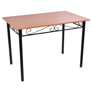 Dining Set Wooden Table 5 Pieces - Plugsusa