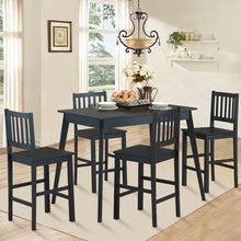 Load image into Gallery viewer, Dinning Set All Black 5 Pieces - Plugsusa