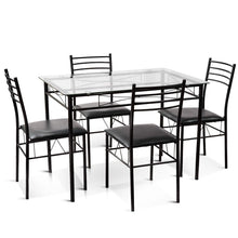 Load image into Gallery viewer, Dinning Set Tempered Glass Top Table 5 Pieces - Plugsusa