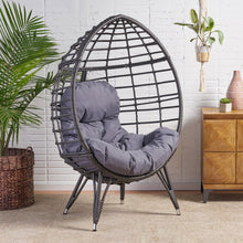 Load image into Gallery viewer, Handcrafted Rattan Wicker Egg Chair With Cushion - Plugsusa