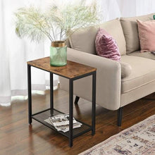 Load image into Gallery viewer, Mid Century End Table With Mesh Shelf - Plugsusa