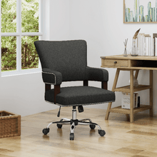 Load image into Gallery viewer, Mid Century Home Office Chair - Plugsusa